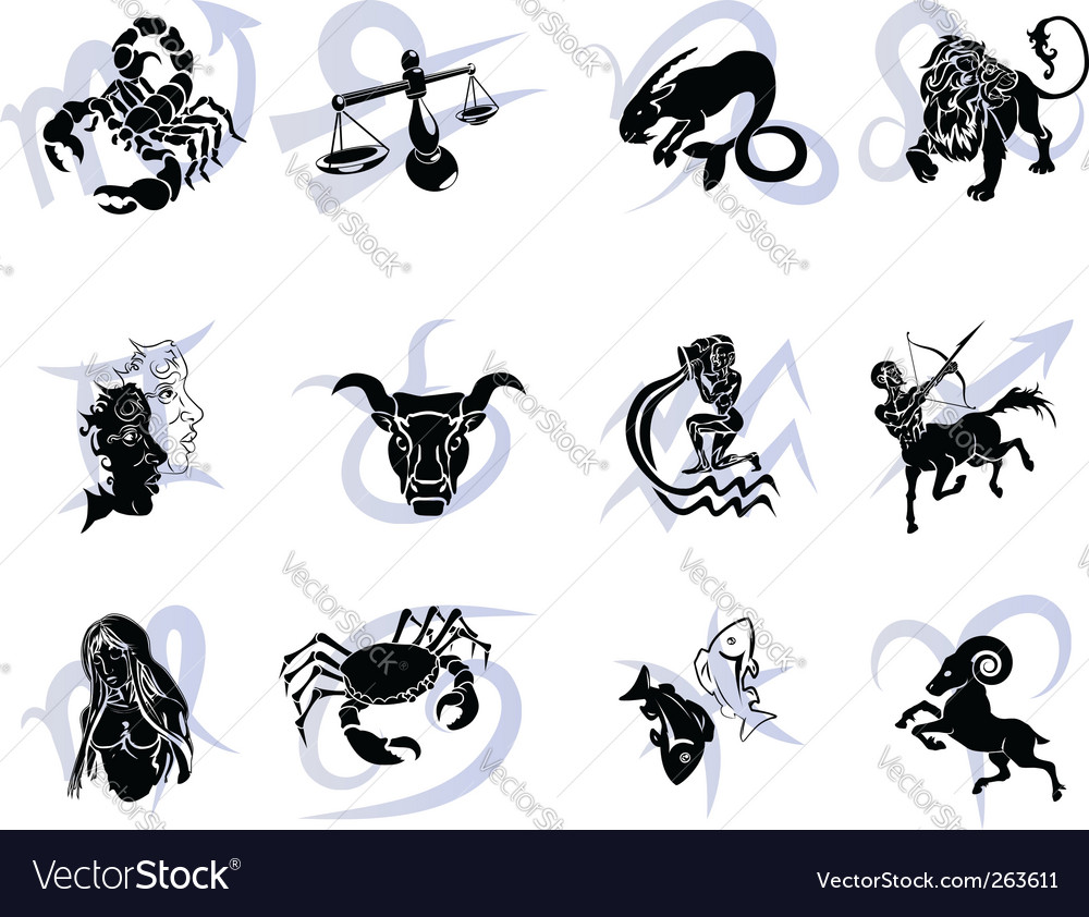 Horoscope zodiac star signs vector | Price: 1 Credit (USD $1)