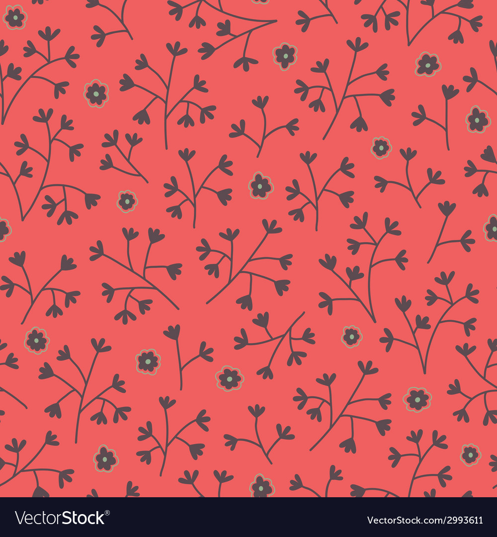 Seamless floral pattern with small flowers endless vector | Price: 1 Credit (USD $1)