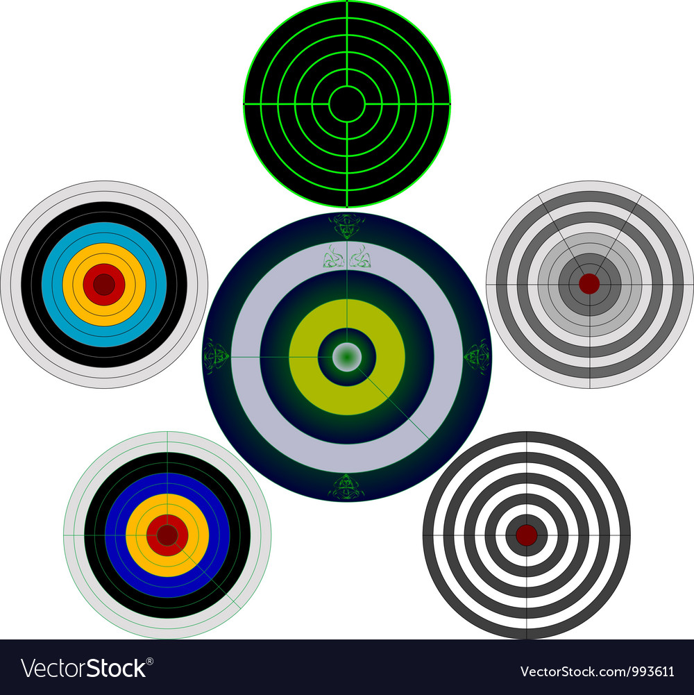 Set of targets vector | Price: 1 Credit (USD $1)