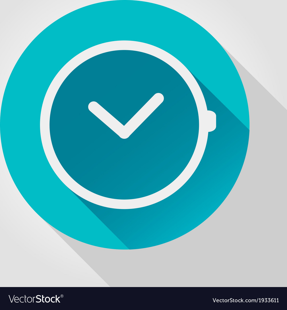 Time clock icon flat design vector | Price: 1 Credit (USD $1)