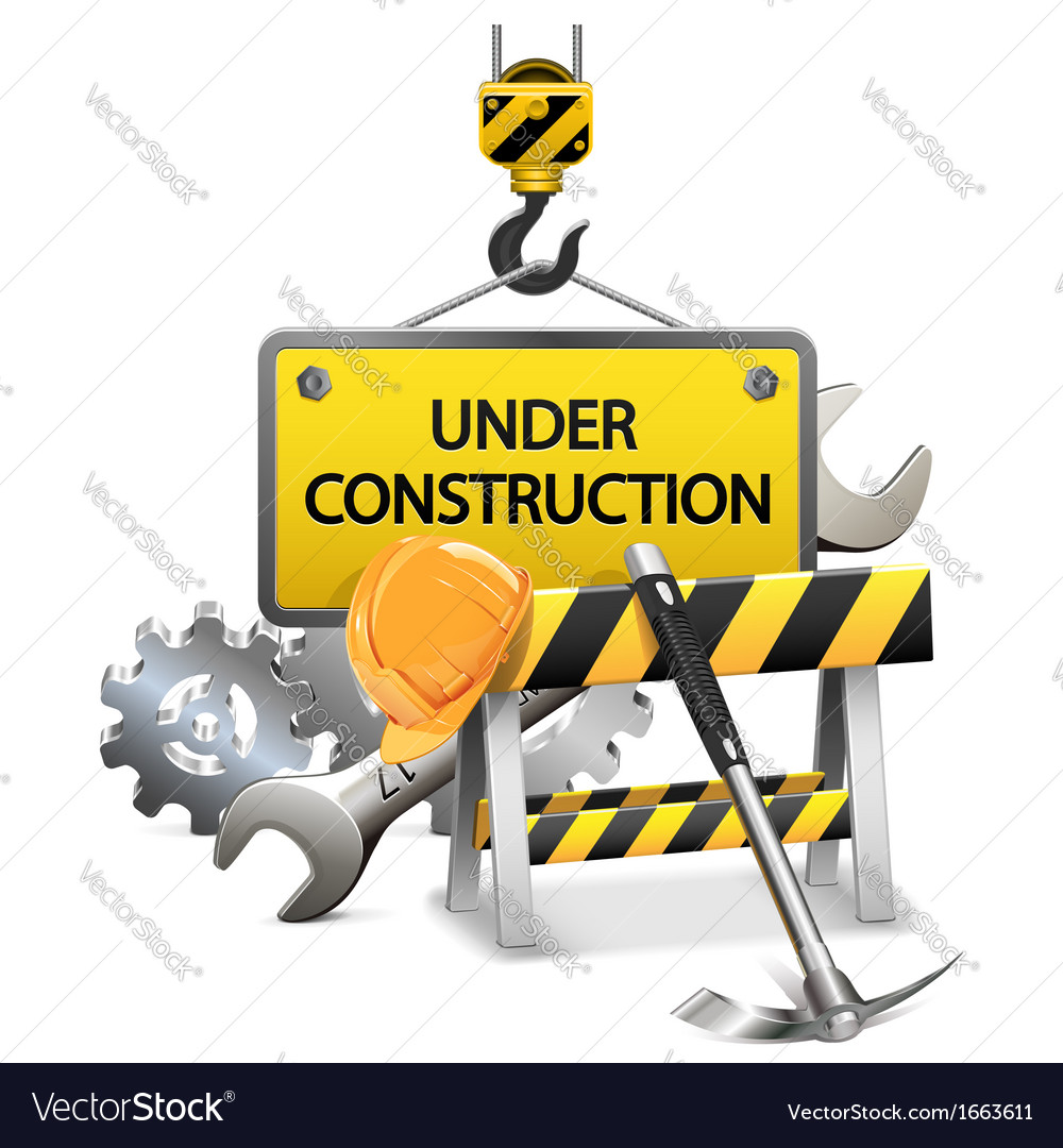 Under construction concept with frame vector | Price: 3 Credit (USD $3)