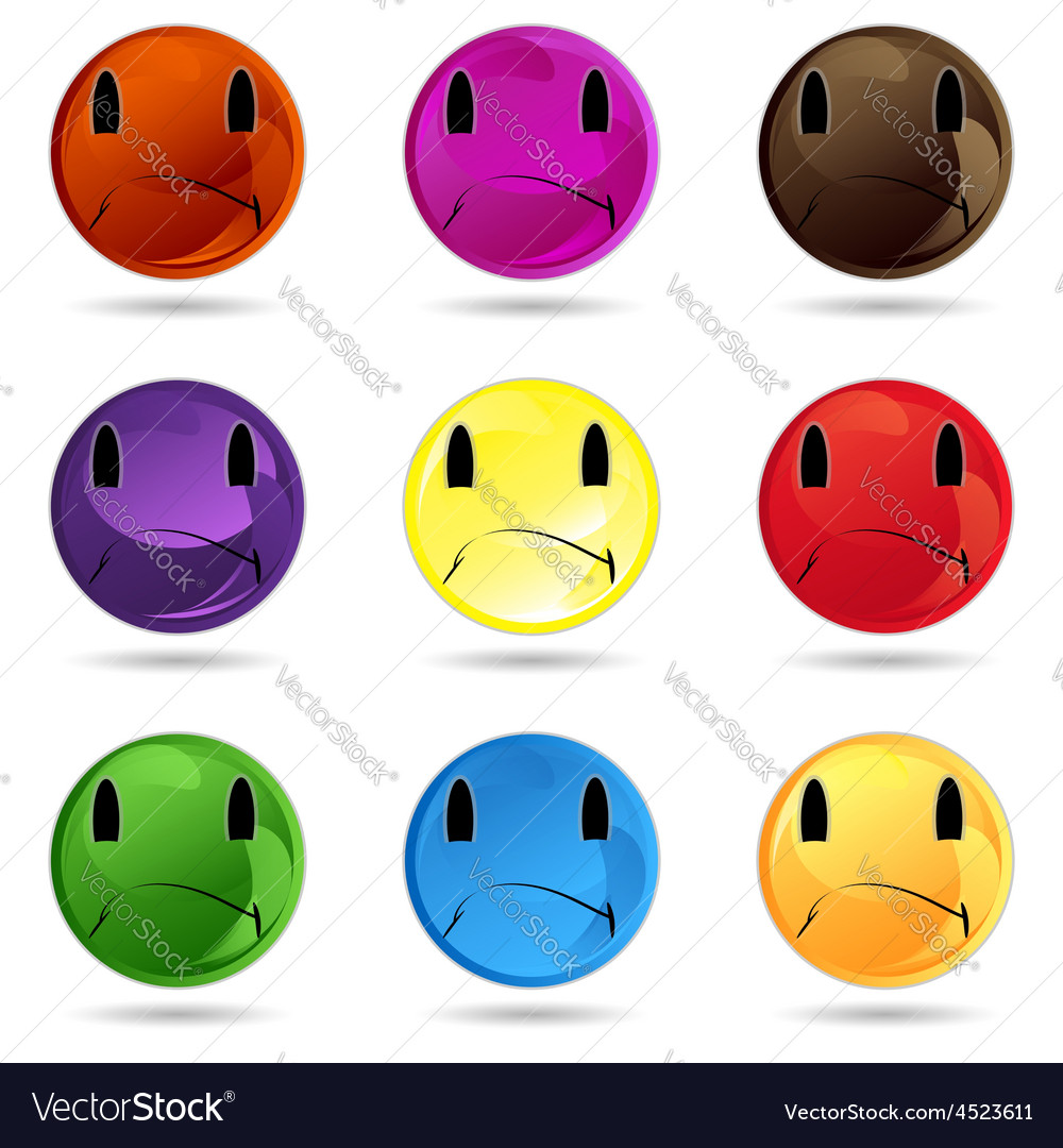 Winking colour white cheerful expression head dep vector | Price: 1 Credit (USD $1)