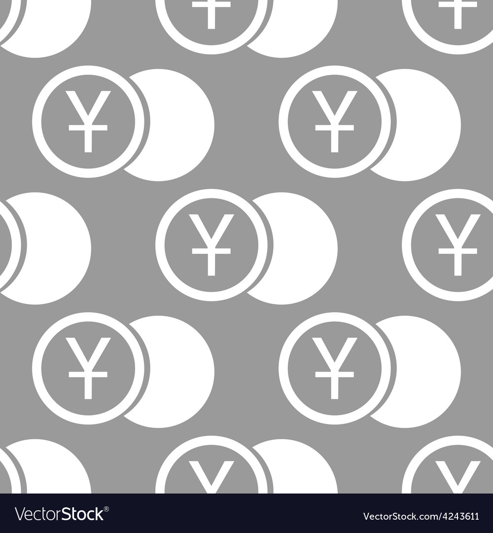 Yen coin seamless pattern vector | Price: 1 Credit (USD $1)