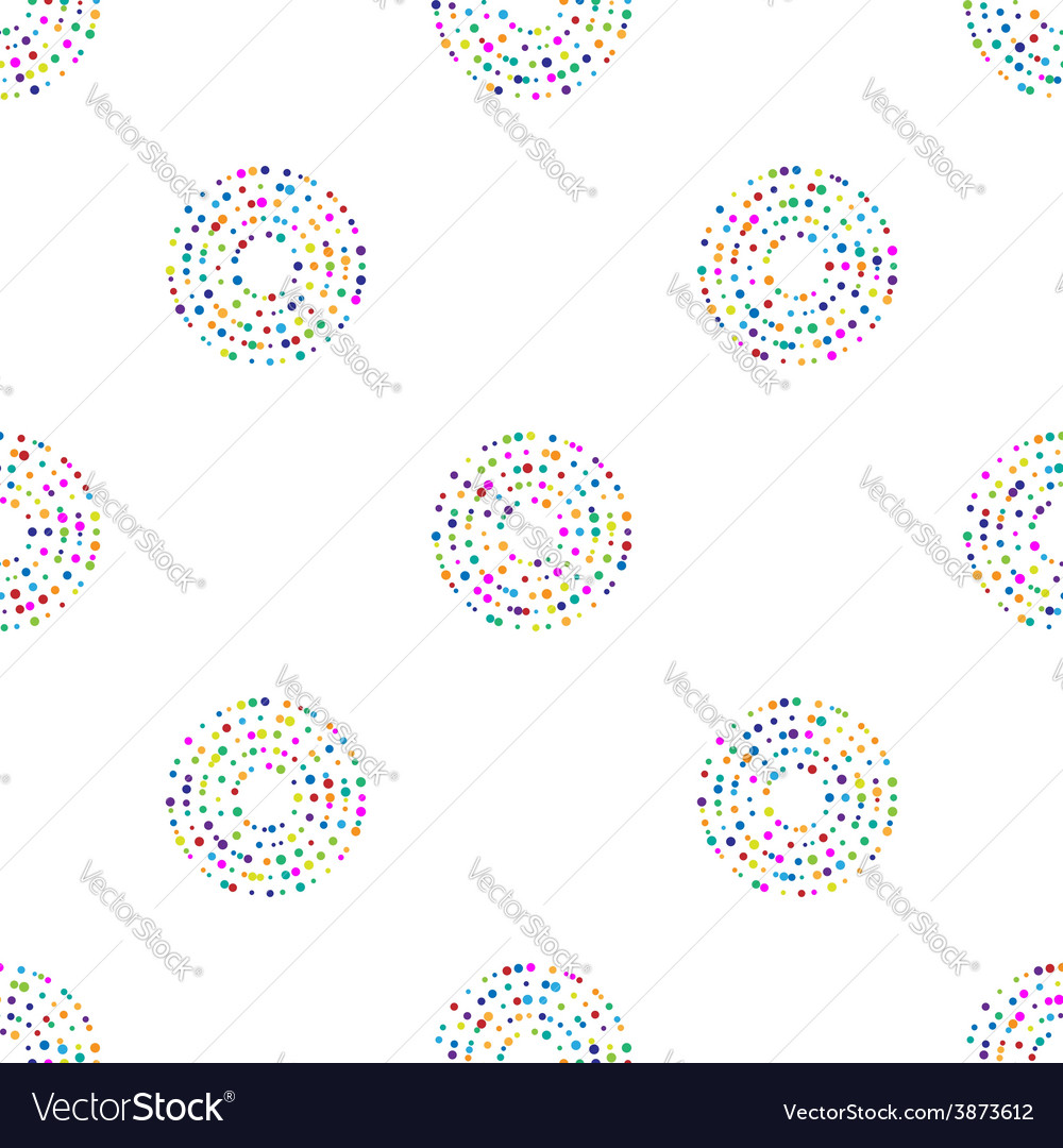Circles pattern in fashion trend colors vector | Price: 1 Credit (USD $1)