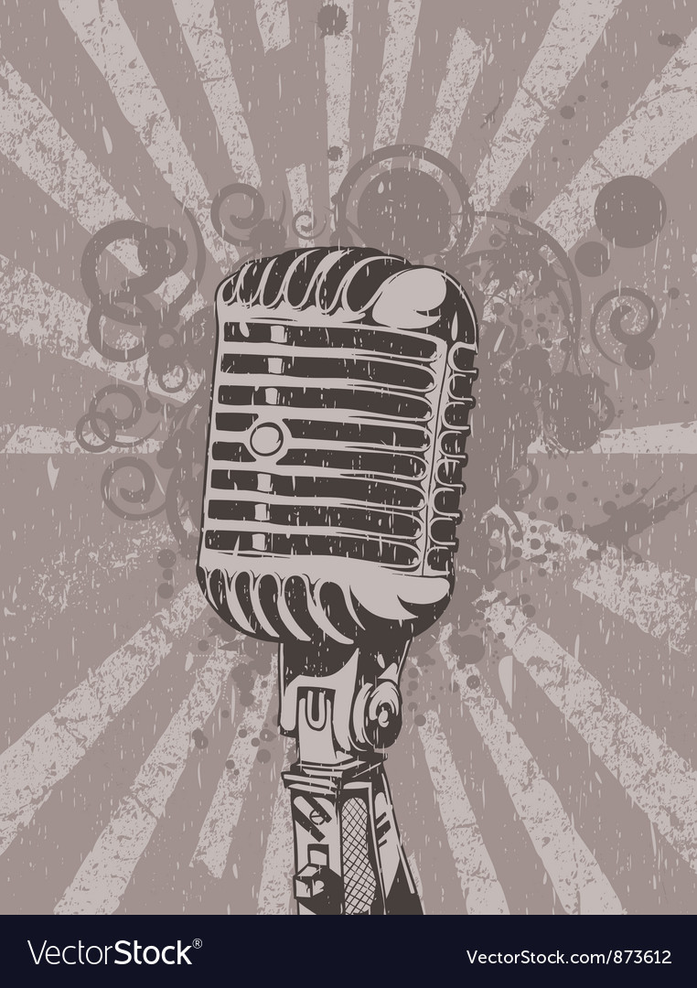 Concert wallpaper with microphone vector | Price: 1 Credit (USD $1)