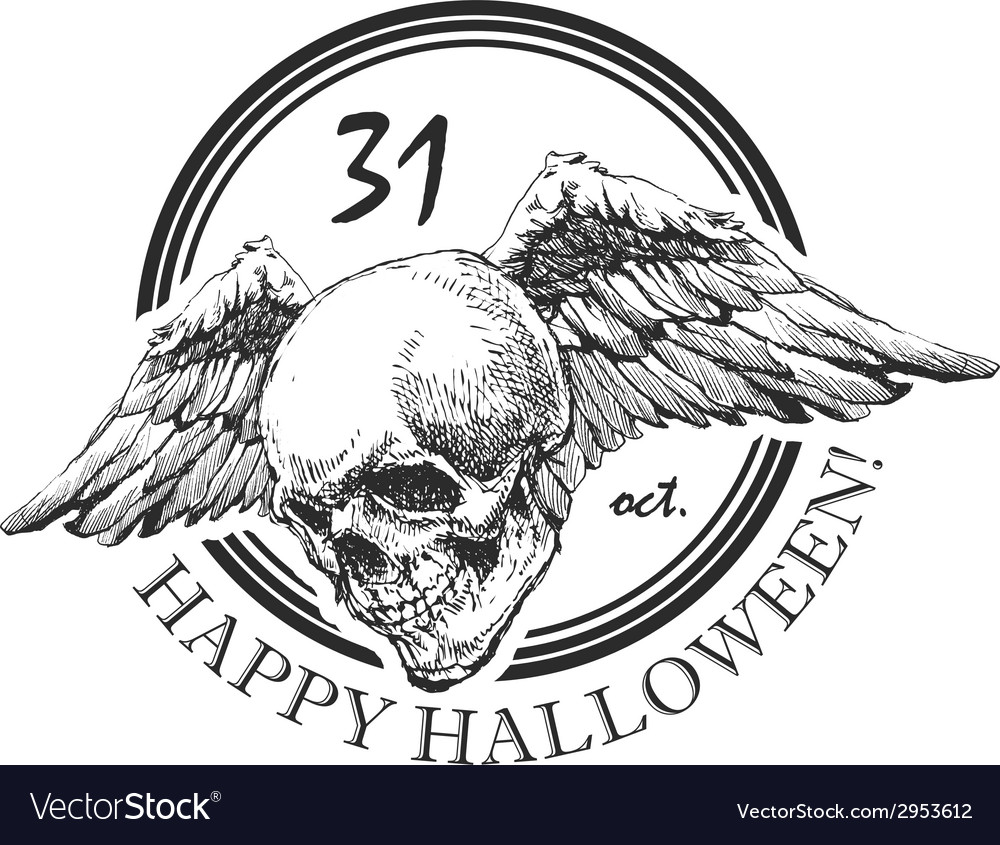 Design element for halloween hand drawn eps 8 vector | Price: 1 Credit (USD $1)