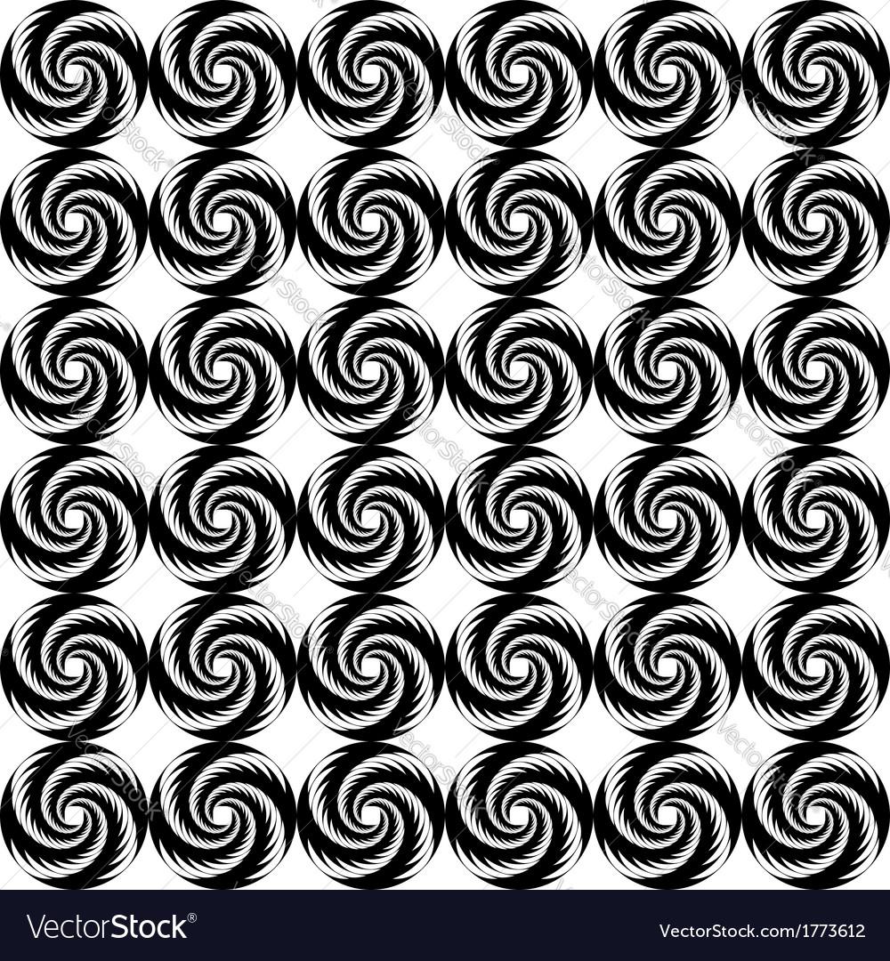Design seamless monochrome helix geometric pattern vector | Price: 1 Credit (USD $1)