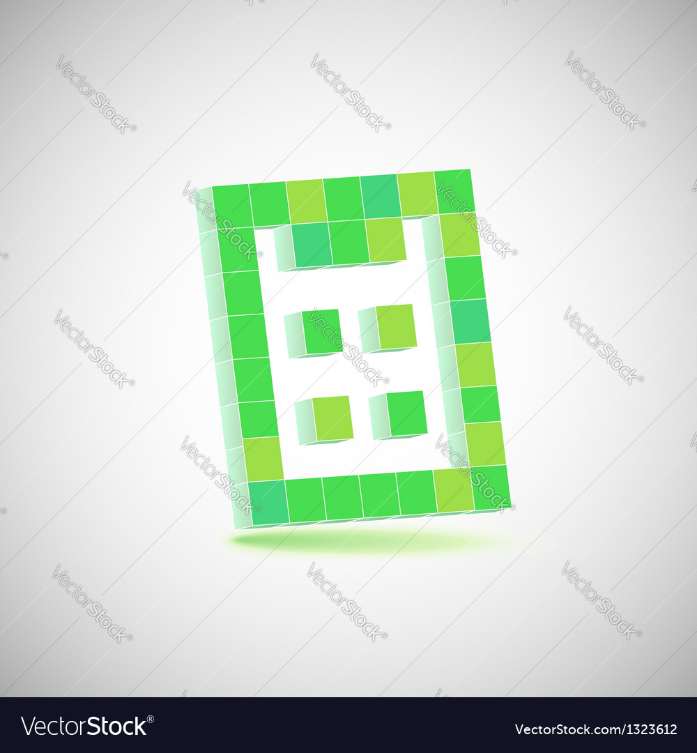 Finance concept pixelated calculator icon drawing vector | Price: 1 Credit (USD $1)