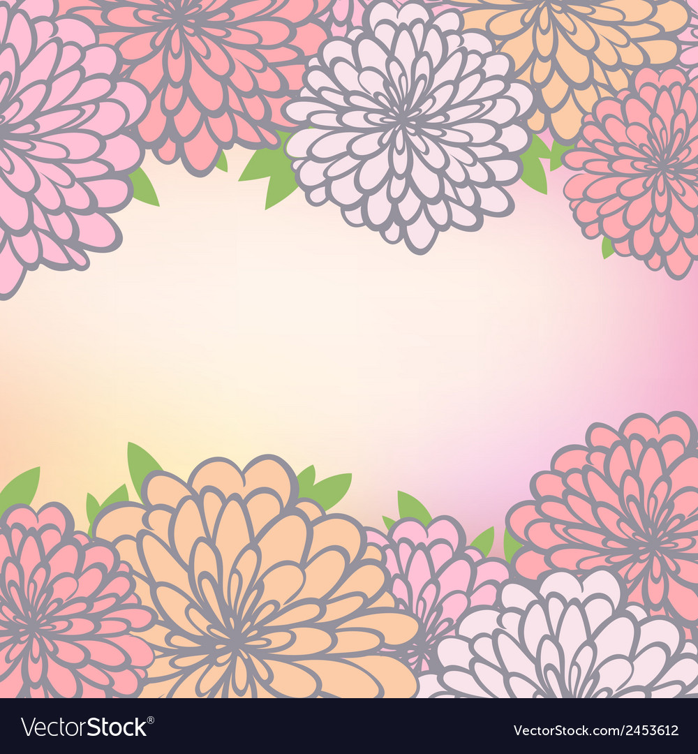 Floral background with chrysanthemum vector