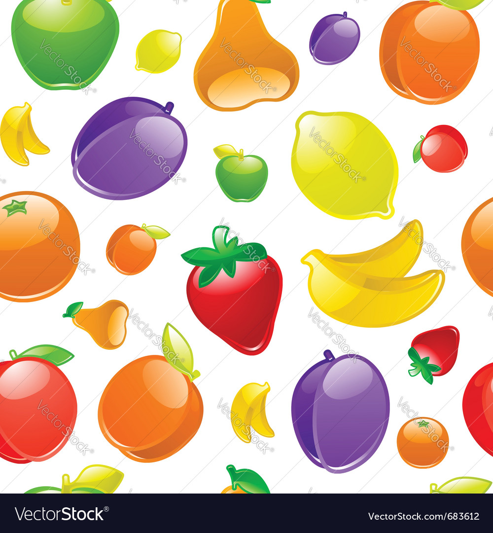 Fruit background seamless vector | Price: 1 Credit (USD $1)