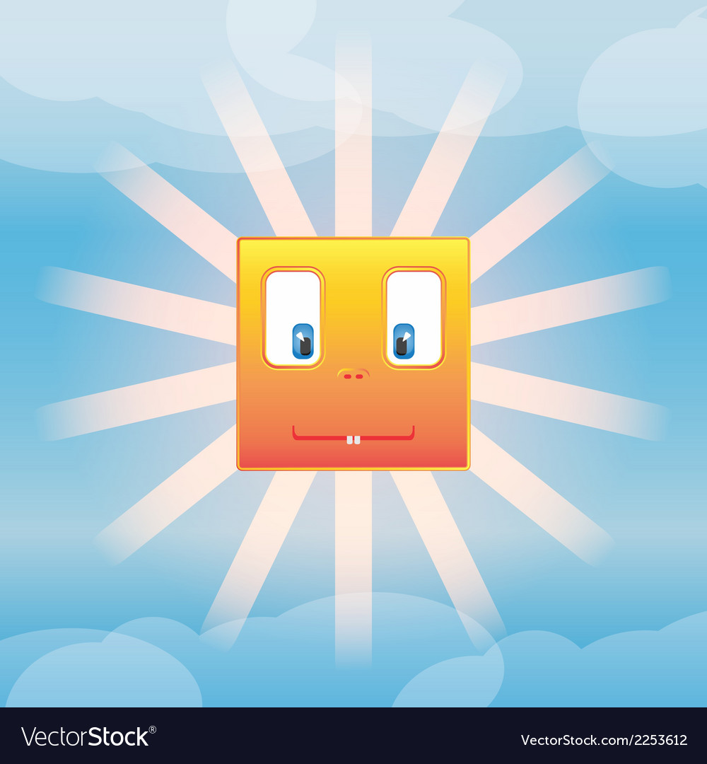 Funny sun vector | Price: 1 Credit (USD $1)