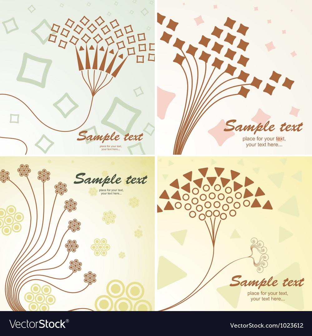 Retro floral vector | Price: 1 Credit (USD $1)