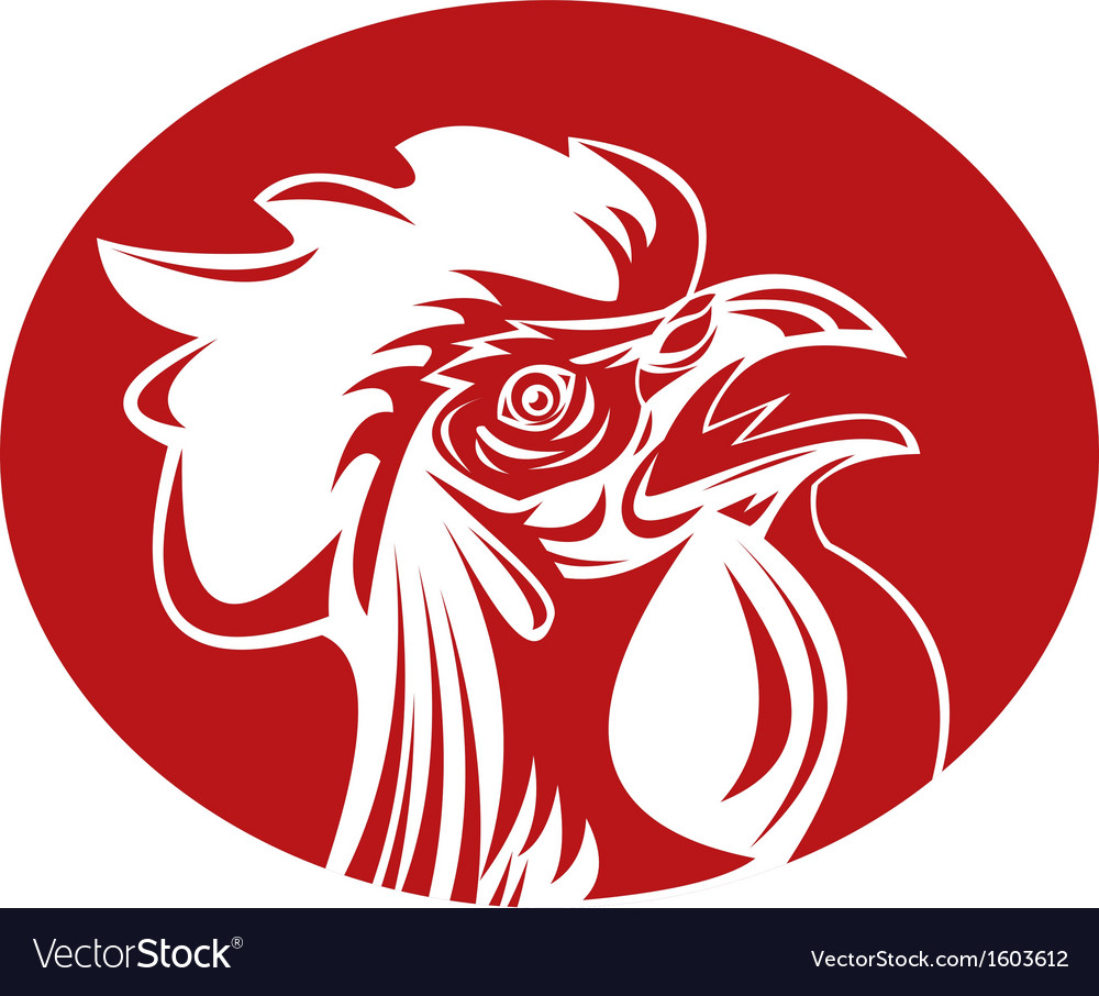 Rooster cockerel crowing vector | Price: 1 Credit (USD $1)