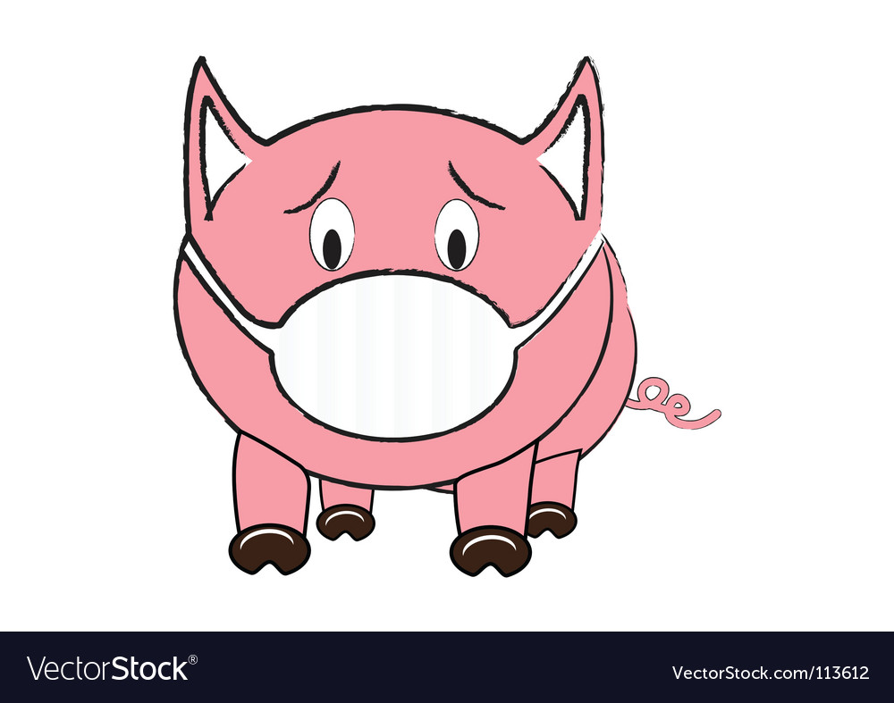 Swine flu vector | Price: 1 Credit (USD $1)