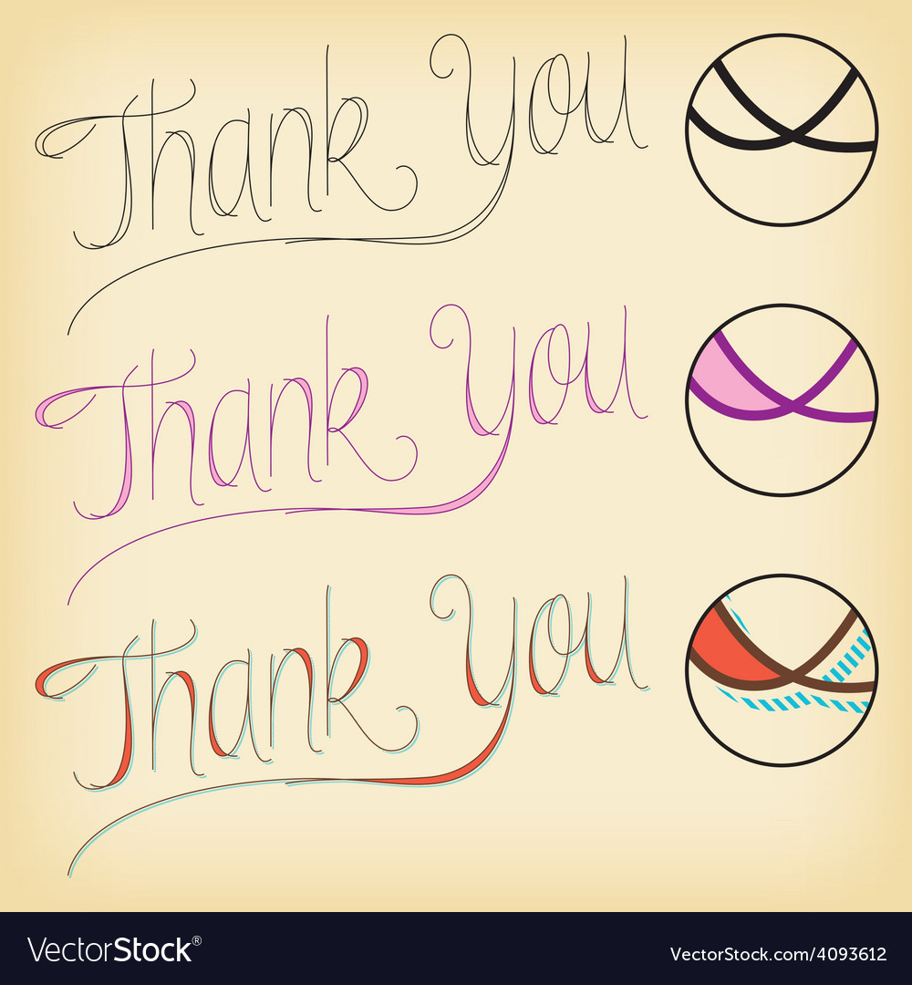 Thank you lettering vector | Price: 1 Credit (USD $1)