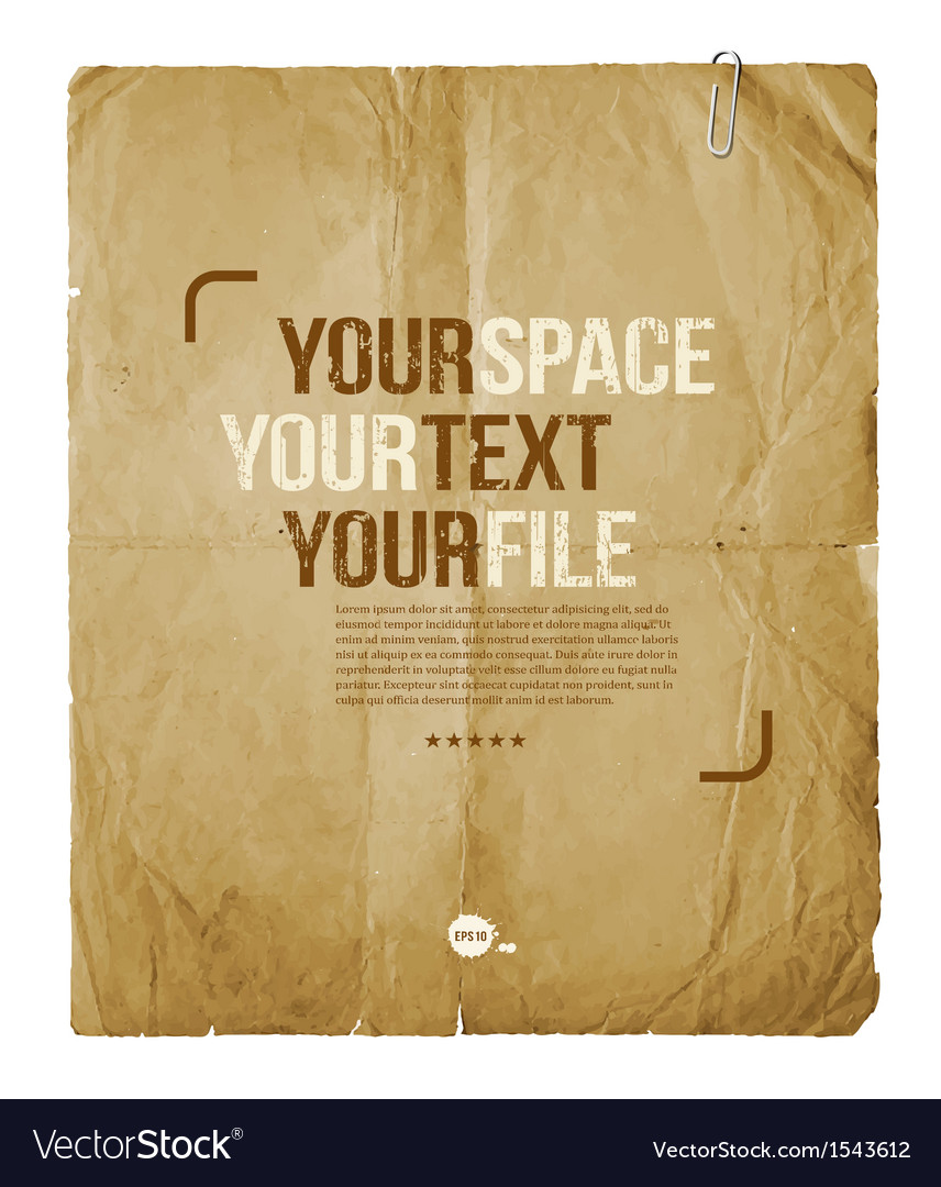 Vintage paper with space for text or image design vector | Price: 1 Credit (USD $1)