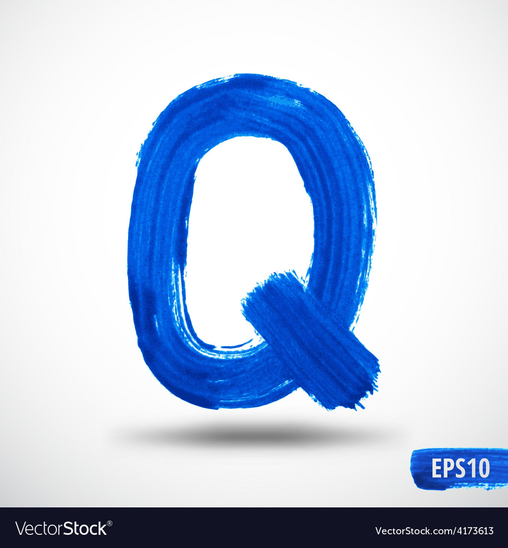 Alphabet letter q watercolor alphabet vector | Price: 1 Credit (USD $1)