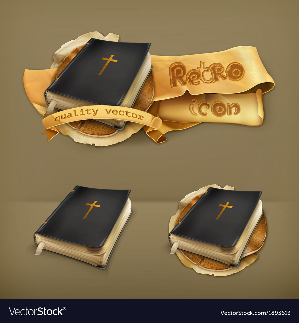 Bible icon vector | Price: 1 Credit (USD $1)