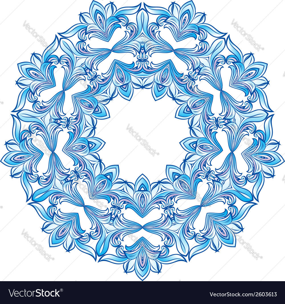 Blue snowflakes vector | Price: 1 Credit (USD $1)