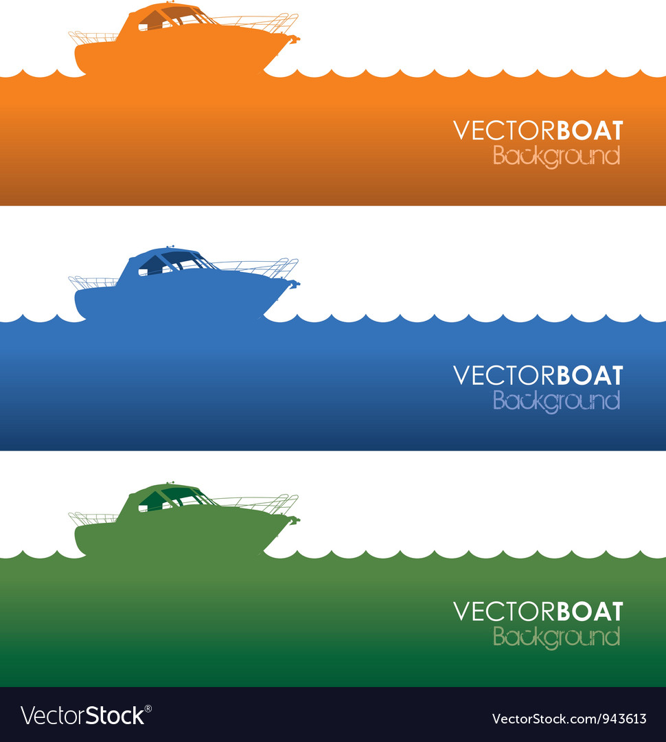 Boat banners vector | Price: 1 Credit (USD $1)