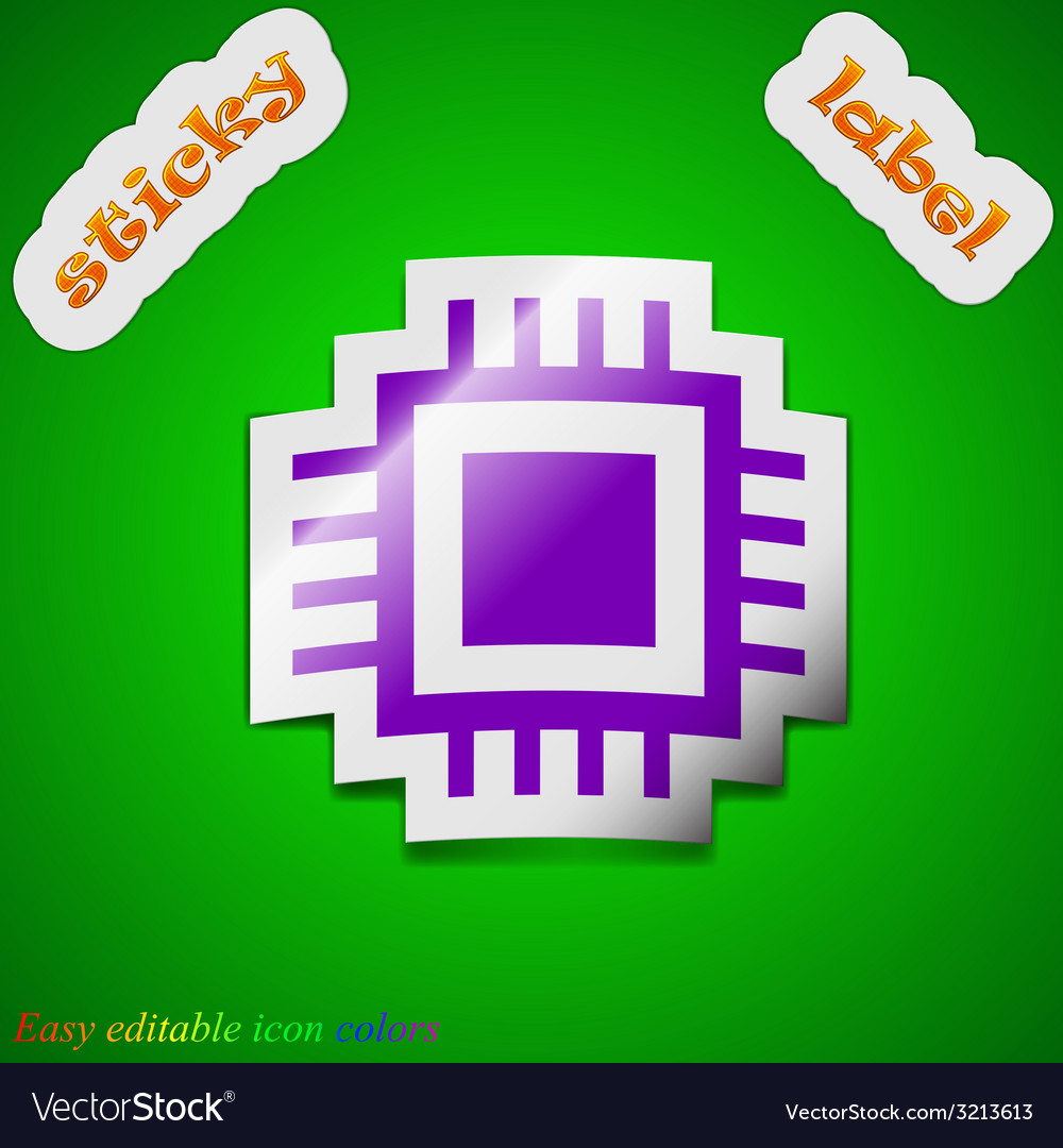 Central processing unit icon sign symbol chic vector | Price: 1 Credit (USD $1)