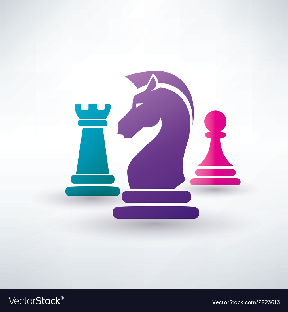 Chess piecies icons vector | Price: 1 Credit (USD $1)