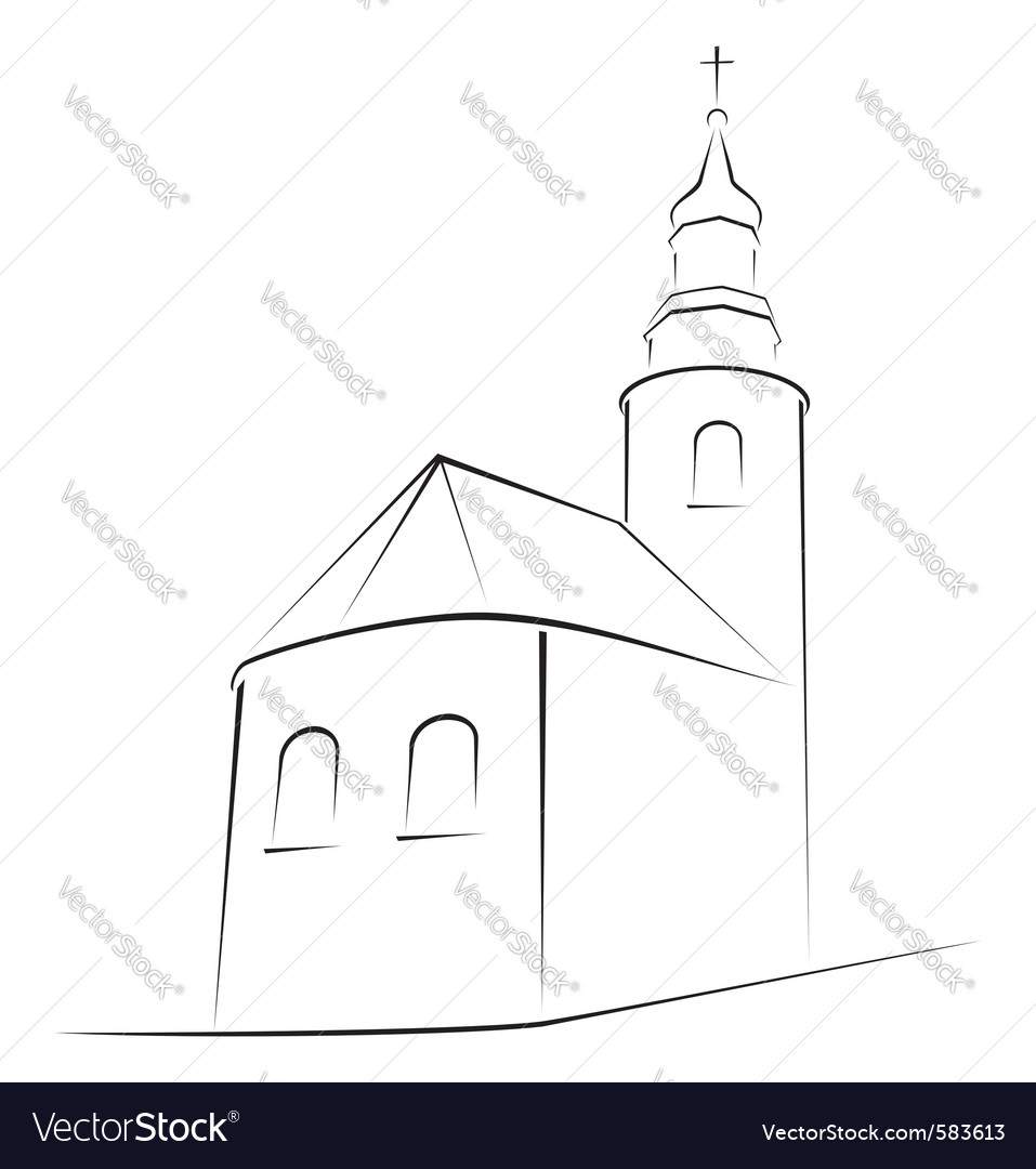 Church symbol vector | Price: 1 Credit (USD $1)