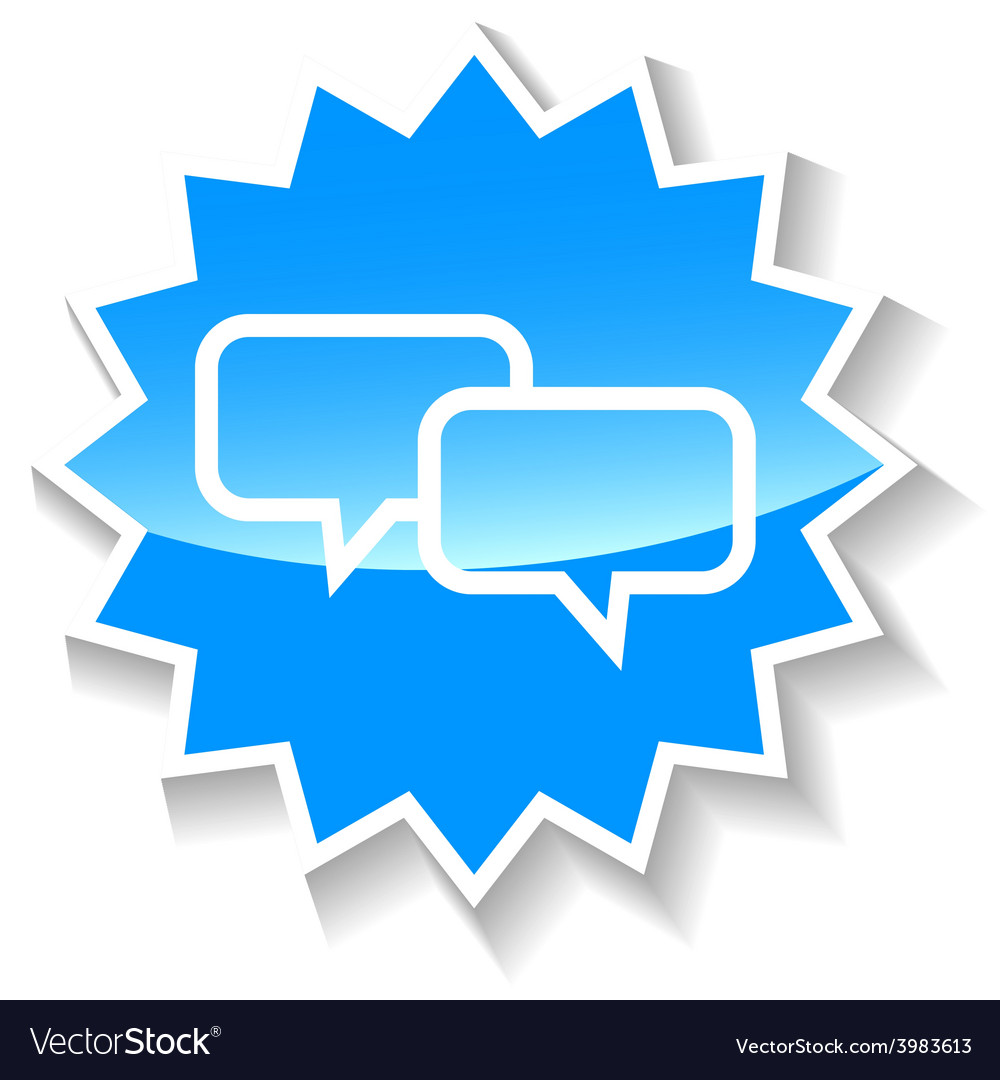 Dialog blue icon vector | Price: 1 Credit (USD $1)