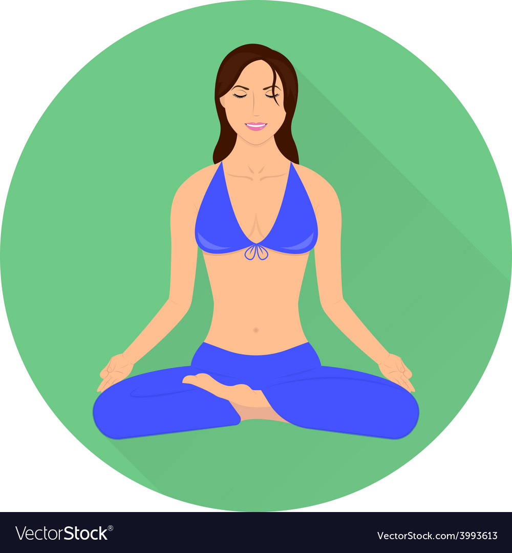 Girl in yoga pose - lotus vector | Price: 1 Credit (USD $1)