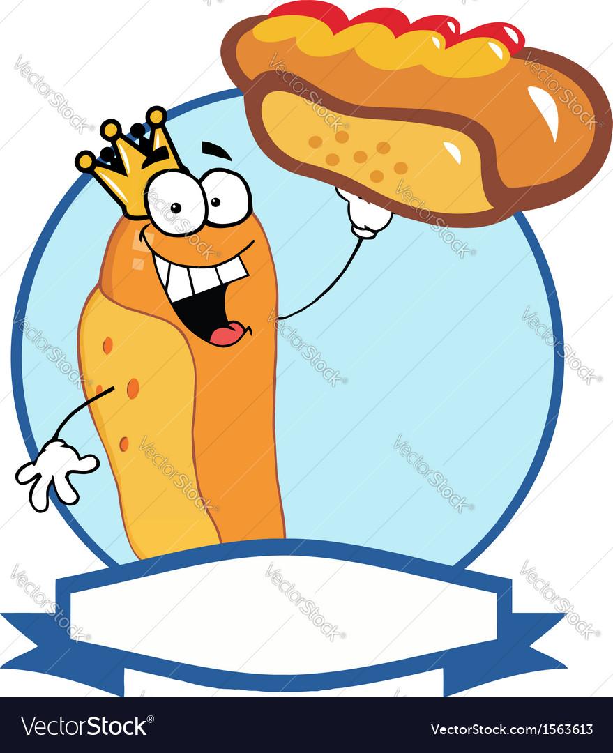 Hot dog cartoon vector | Price: 1 Credit (USD $1)