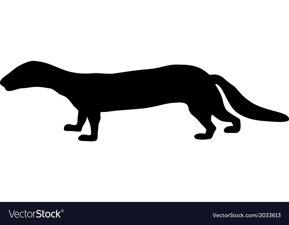 Polecat silhouette vector | Price: 1 Credit (USD $1)