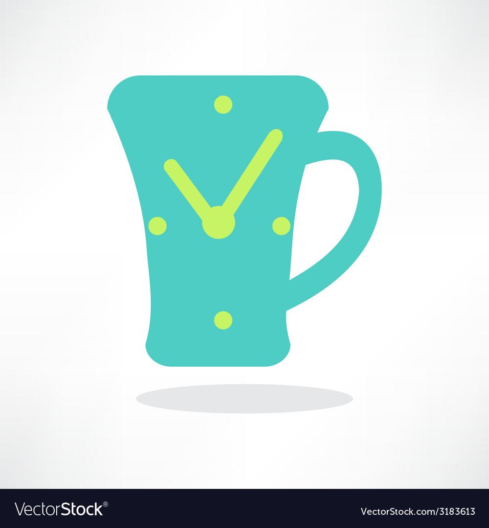 Simplistic coffee cup icon vector | Price: 1 Credit (USD $1)
