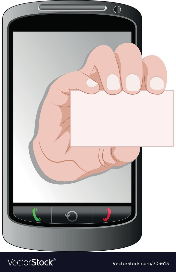 Telephone and business card vector | Price: 3 Credit (USD $3)