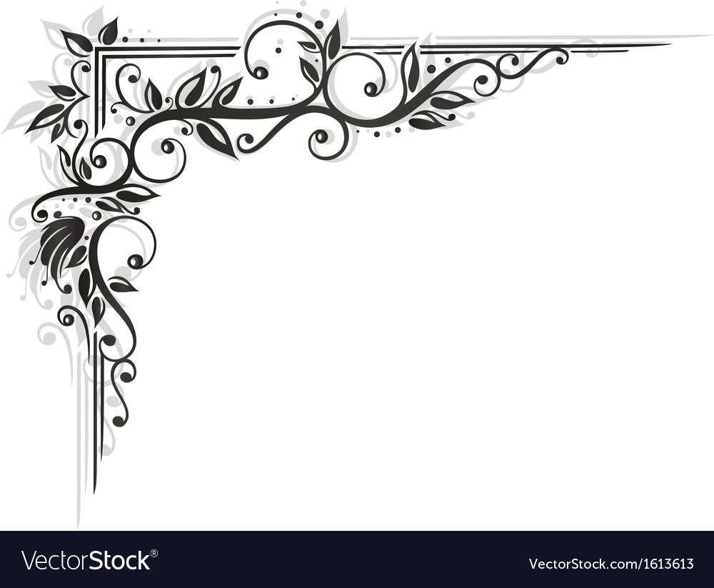 Tendril black art vector | Price: 1 Credit (USD $1)