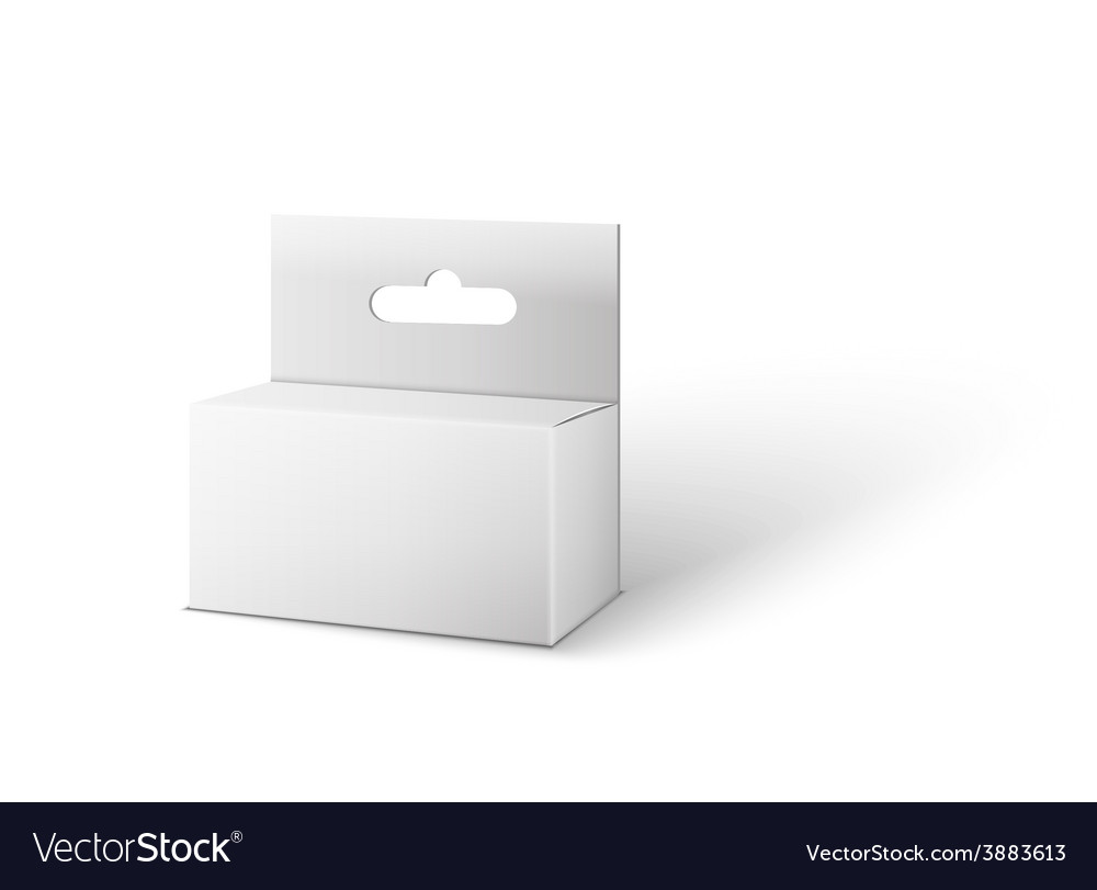 White product package box isolated on white vector | Price: 1 Credit (USD $1)