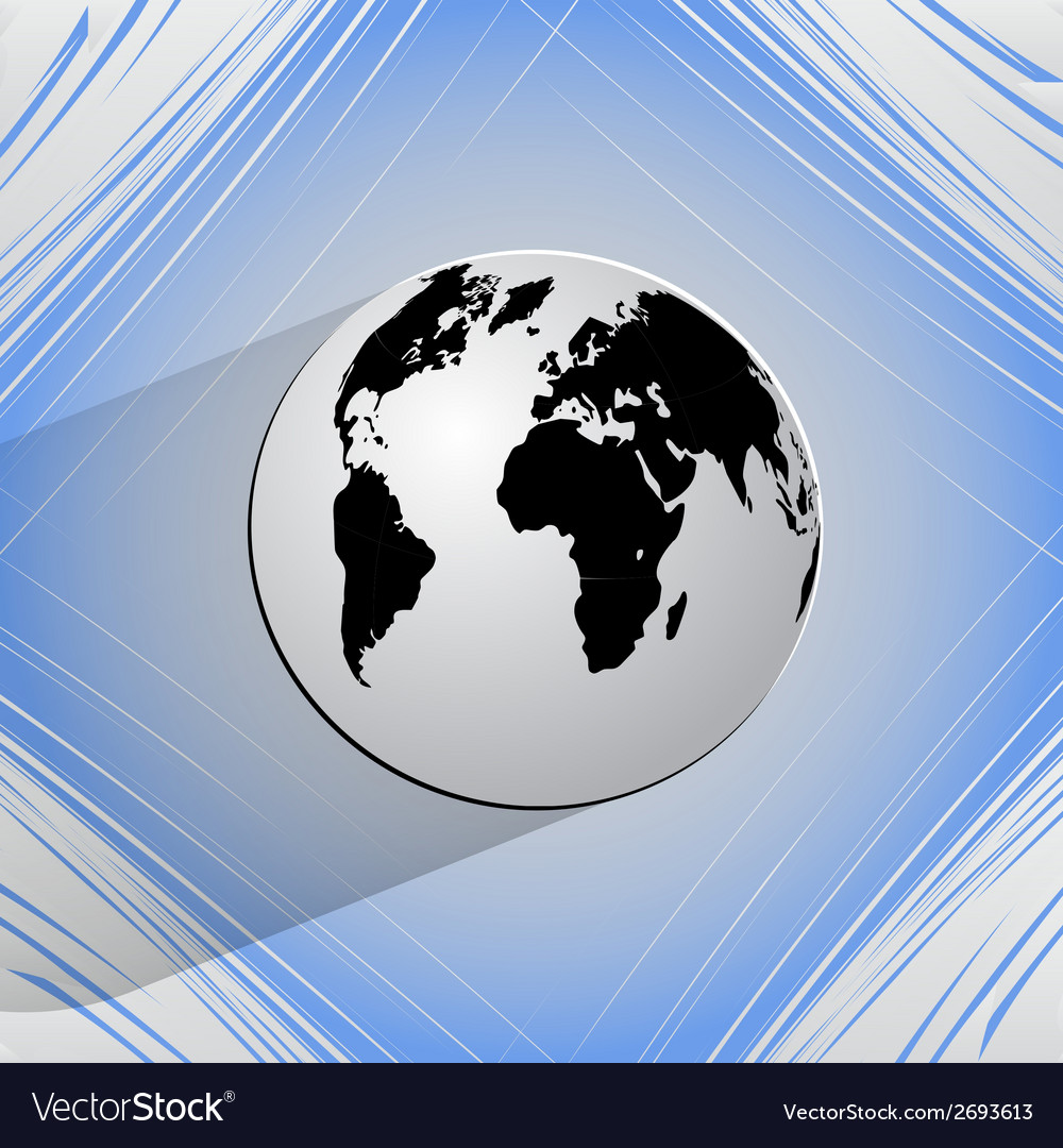 World map web icon on a flat geometric abstract vector | Price: 1 Credit (USD $1)