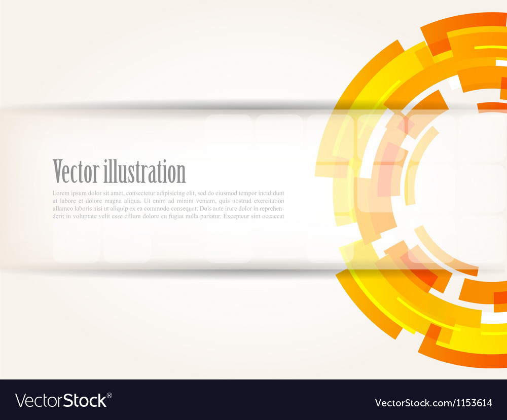 Abstract bright tech background in orange color vector | Price: 1 Credit (USD $1)