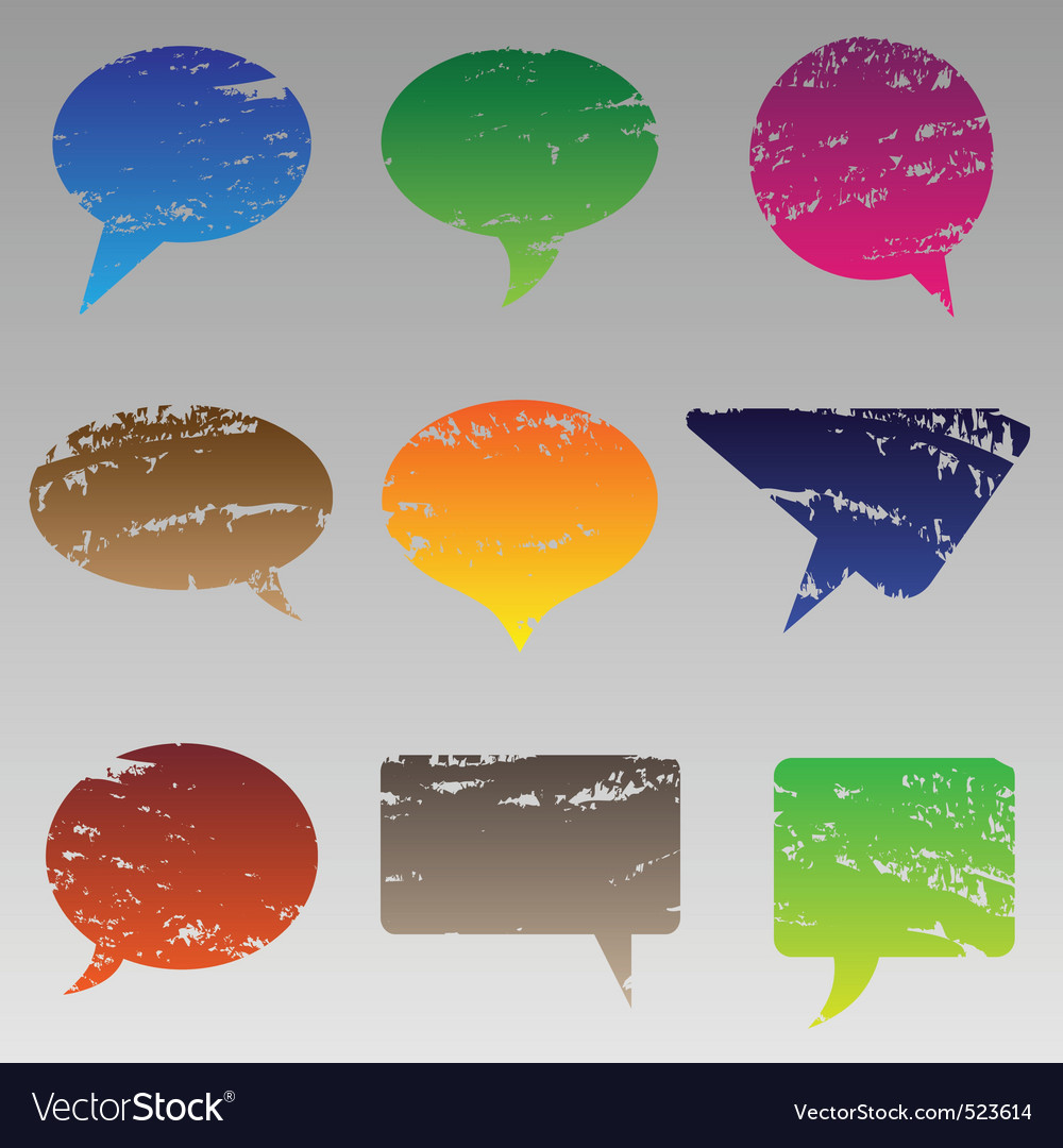 Abstract grunge speech bubbles vector | Price: 1 Credit (USD $1)
