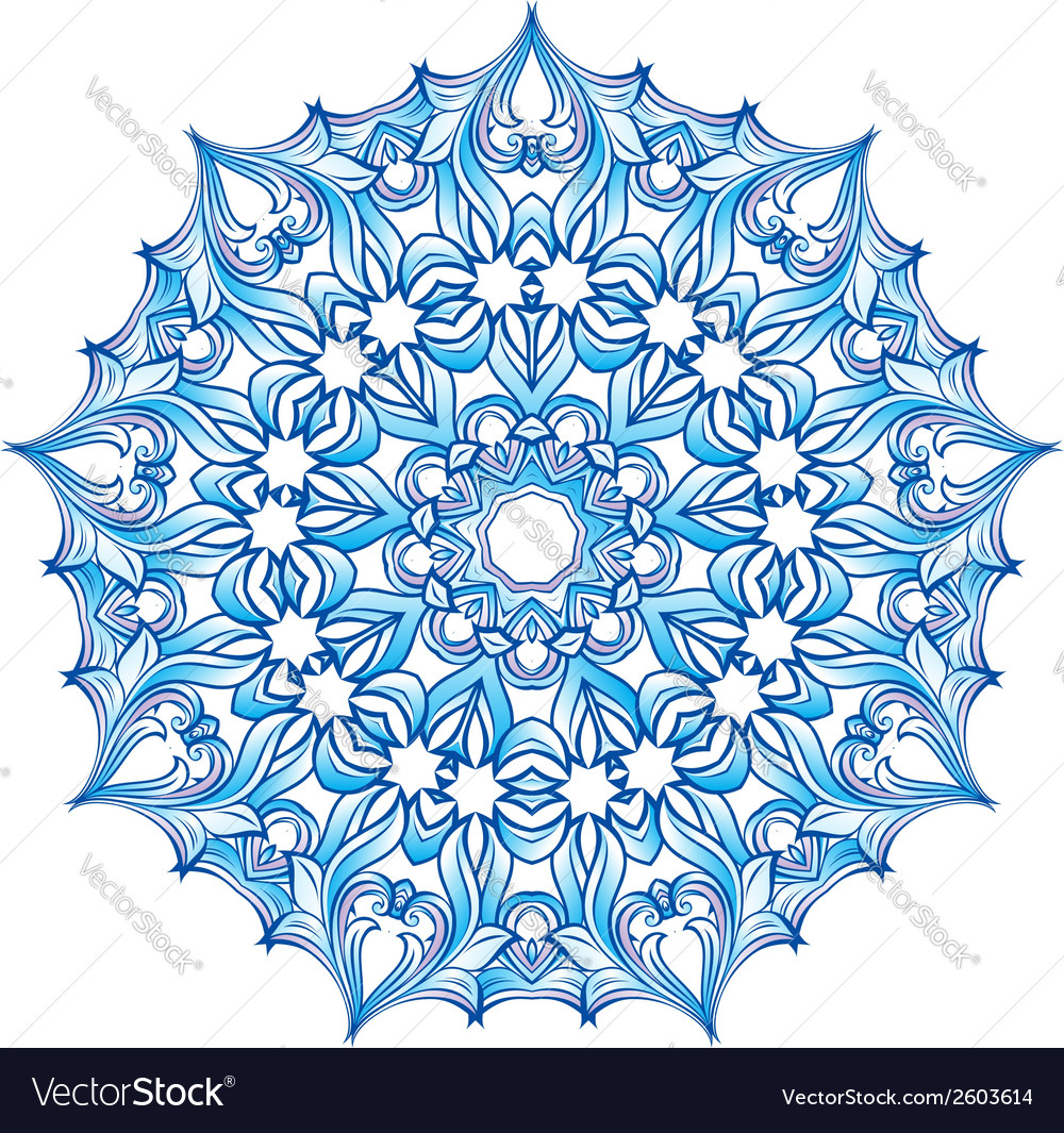 Blue snowflake vector | Price: 1 Credit (USD $1)