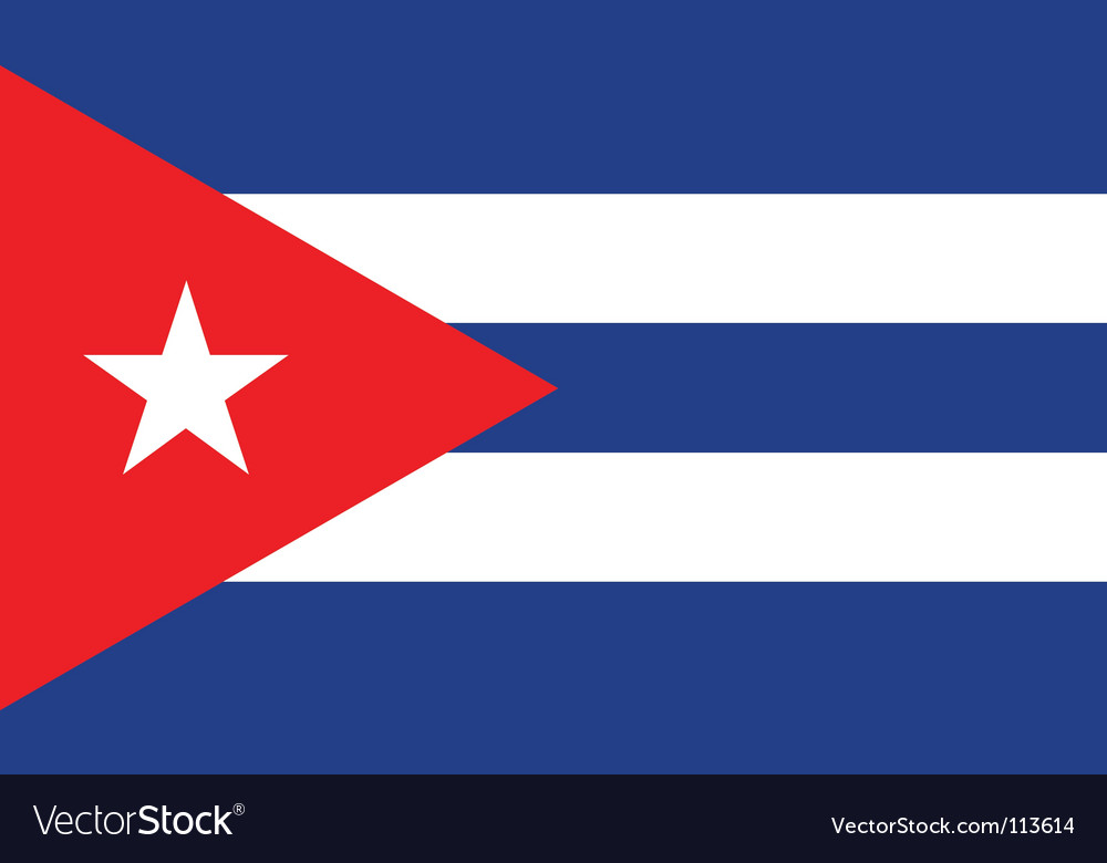 Cuba flag vector | Price: 1 Credit (USD $1)