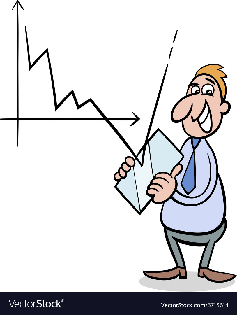 Economic crisis cartoon vector | Price: 1 Credit (USD $1)