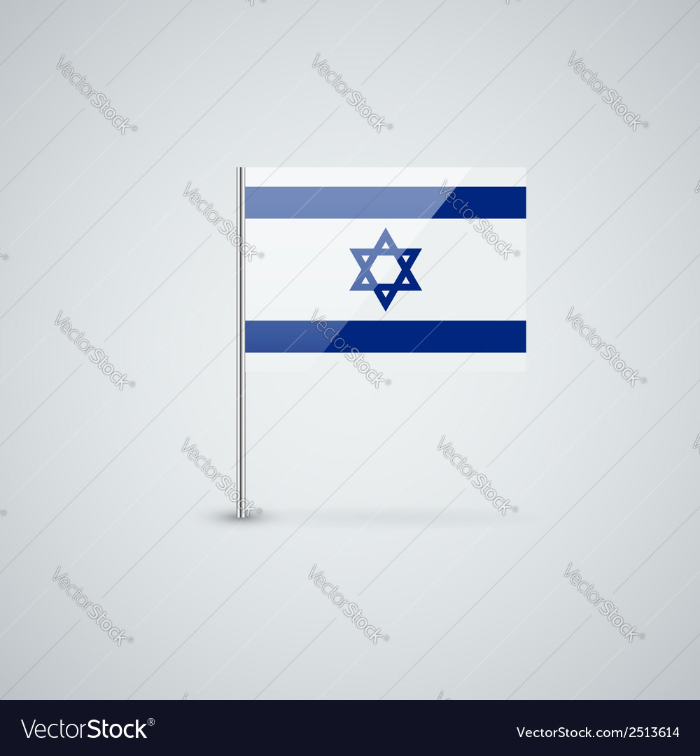 Flag of israel vector | Price: 1 Credit (USD $1)