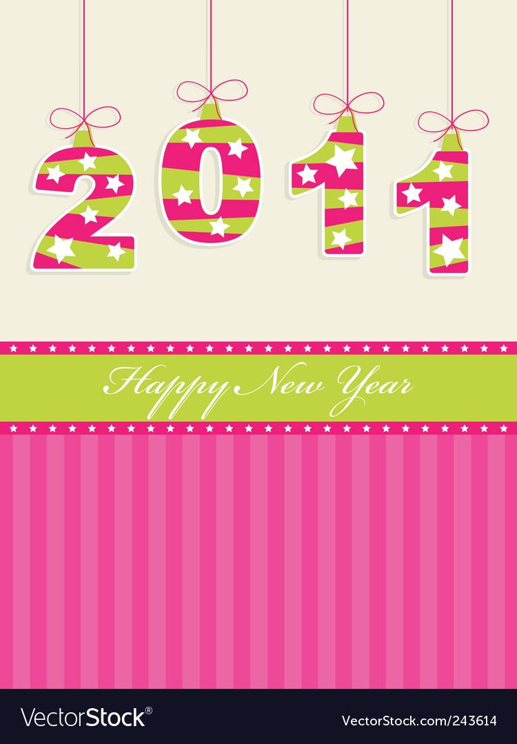 Happy new year 2011 vector | Price: 1 Credit (USD $1)
