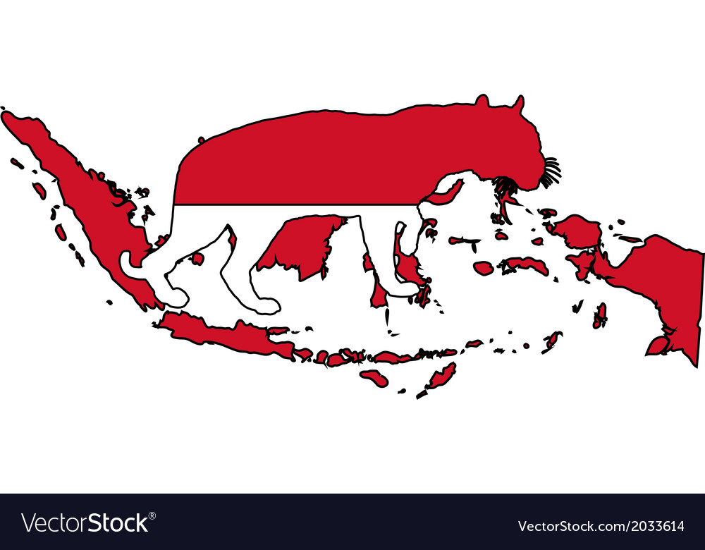 Indonesia tiger vector | Price: 1 Credit (USD $1)