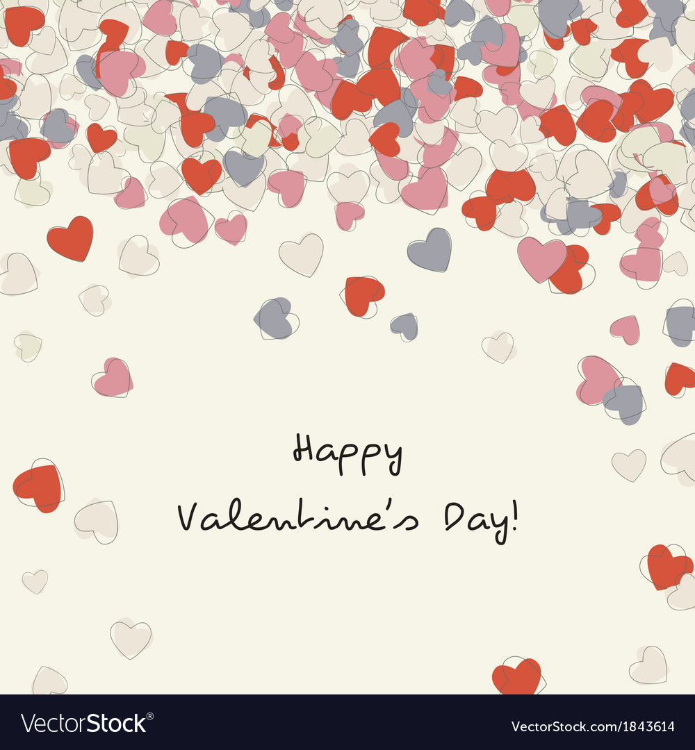 Postcard with heart of valentines day vector | Price: 1 Credit (USD $1)