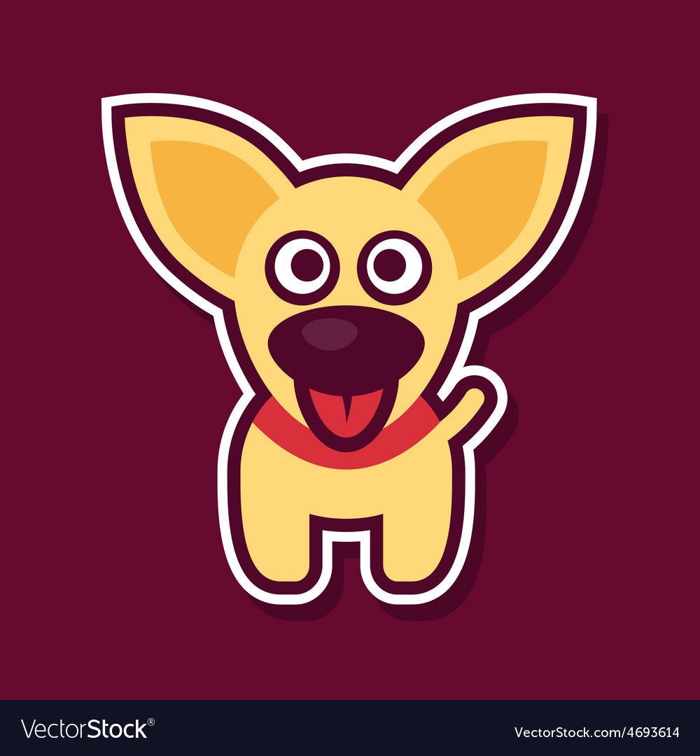 Sweet yellow puppy vector | Price: 1 Credit (USD $1)