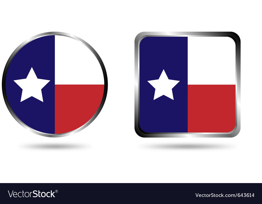 Texas flag icon isolated on white vector | Price: 1 Credit (USD $1)