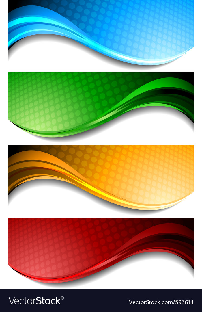 Wavy banners vector | Price: 1 Credit (USD $1)