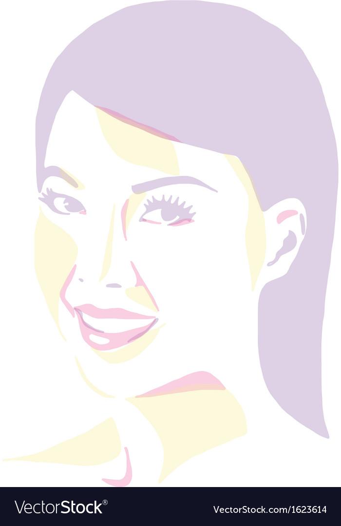 Women portrait - pop art vector | Price: 1 Credit (USD $1)