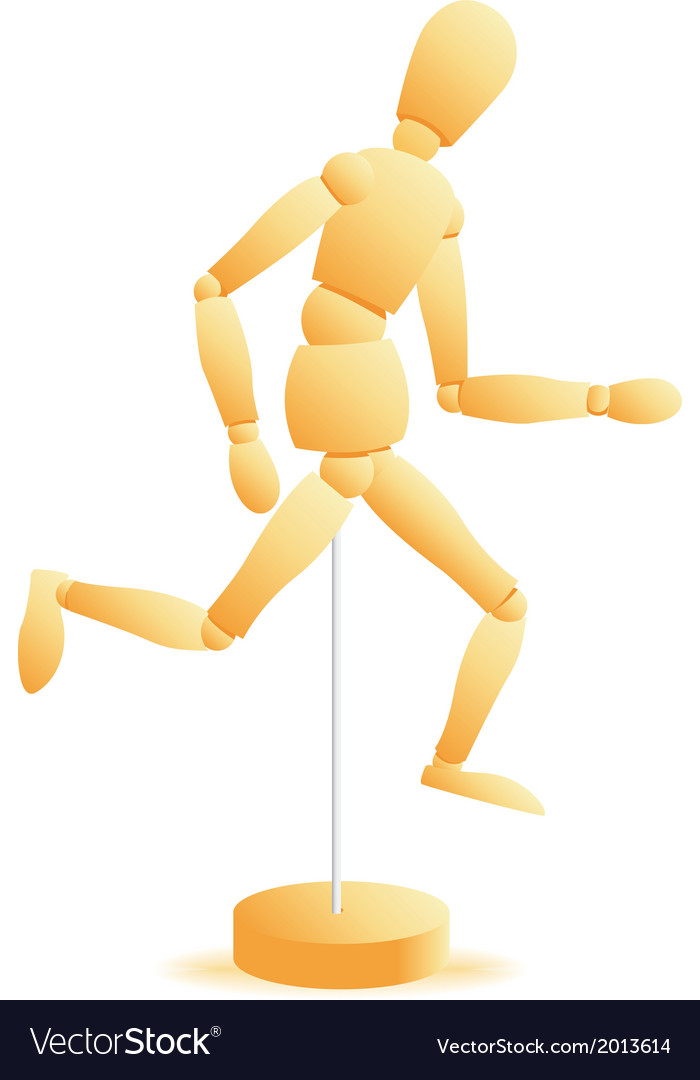 Wooden figure run vector | Price: 1 Credit (USD $1)